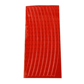 Wheel Reflective Car Motorcycle Rim Sticker (Red)