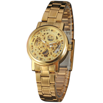 WINNER Brand Women Skeleton Mechanical Watch Vintage Stainless Steel