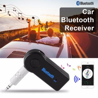 Wireless Bluetooth 3.5 Audio Stereo Music Car Reciever Adaptor Mic