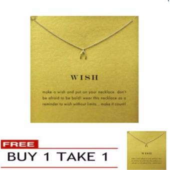 WISH pendant necklace gold dipped BUY 1 TAKE 1