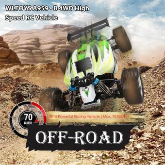 WLtoys A959-B 4WD Off-road Vehicle 2.4G 540 Brushed Motor RC Car(Green) - intl