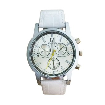 Womage 1107 Stainless Watch with Sub Dial Design (White) #0127 Price Philippines
