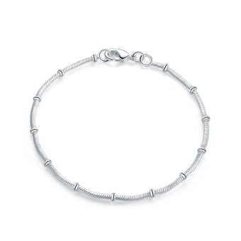 Women Fashion Bracelet Crystal Bangle Silver Plated Body ChainJewelry Wristband - intl