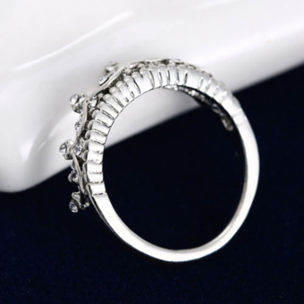 Women Jewelry Gift Silver Tone Crystal Rhinestone Queen Crown RingSize 5 6 7 8 - intl - 3
