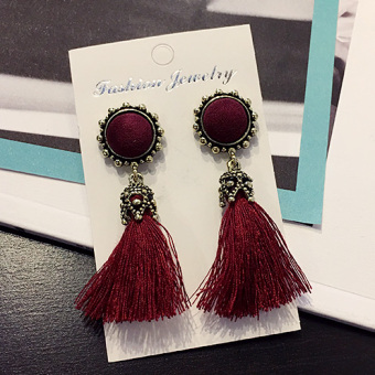 Women's European and American Long Drop Earrings
