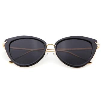 Women's Sun Glass UV Protection UV400 Cat Eye Shades Sunglasses Black - intl - 3