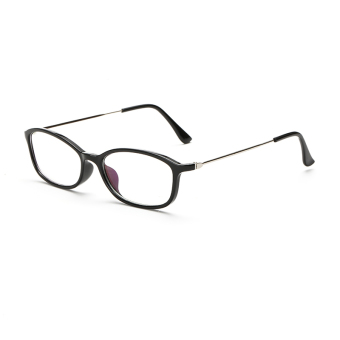 Women's Eyewear Fashion Rectangle Glasses BrightBlack Frame GlassesPlain for Myopia Women Eyeglasses Optical Frame Glasses OculosFemininos Gafas - Intl Price Philippines