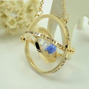 Womens Fashion Jewellery Necklaces Harry Potter Hermione Granger Rotating Time Turner Necklace Gold Hourglass