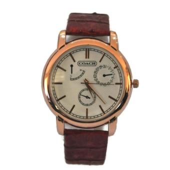 Women's Fashion Leather Strap Quartz Wrist Watch