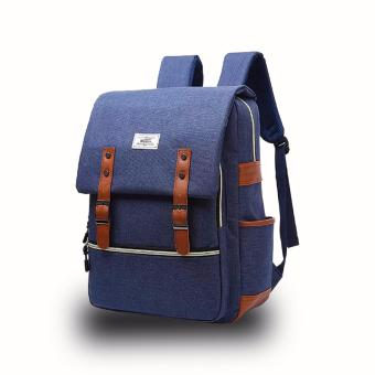 WOWANG Unisex Leisure Lightweight Travel Laptop Backpack Men OxfordCloth Business Backpack (Blue) - 2