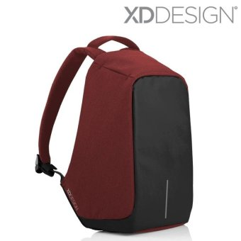 XD Design Bobby Anti Theft Backpack - Red/Black/Grey - intl
