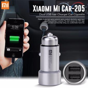 Xiaomi Mi Car-205 Dual USB fast Charger Car Cigarette (Silver)
