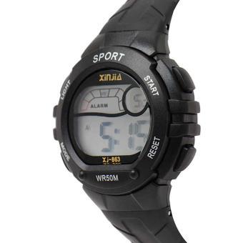 Xinjia Kid's Digital Pastel Waterproof Sport Watch Plastic Strap XJ-863 with FREE Alkaline Battery - 2