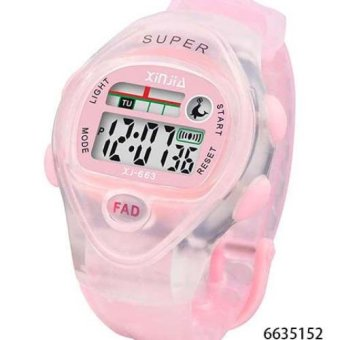 Xinjia Kid's LED Water Resistant Sports Watch Unisex Plastic Strap XJ-663