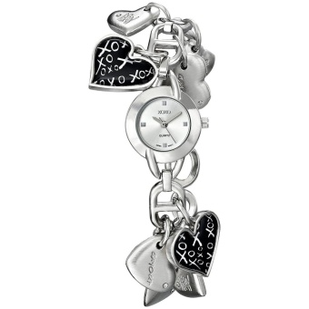 XOXO Women's XO7030 Silver Dial Silver-tone Heart Charms Watch Price Philippines