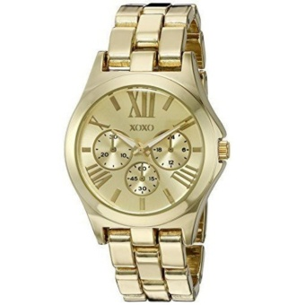 XOXO XO5864 Women's Analog Metal and Alloy Strap Gold-Tone Ladies Watch