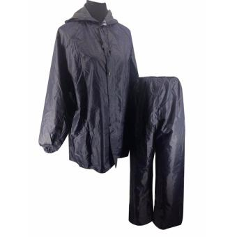 Y0091 Raincoat For Women/Men Rainsuit (Black) Price Philippines