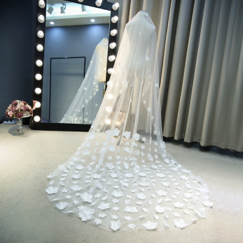 Yaojing Bride Petal Trailing Wedding Veil