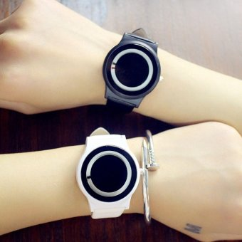YBC 1 Pair Harajuku Style Couples Watch PU Leather Strap Quartz Watches - intl Price Philippines