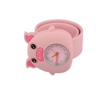 YBC Cute Silicone Slap Watches for Kids Pink