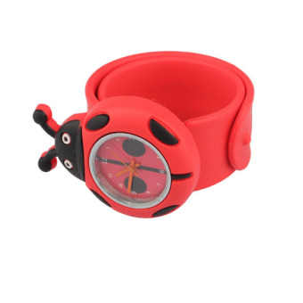 YBC Cute Silicone Slap Watches for Kids Red