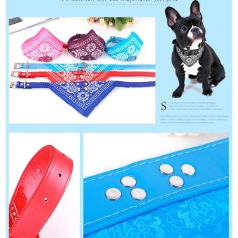 Yika Pet Dog Puppy Cat Neck Scarf Bandana PU Leather CollarNeckerchief Cute Necktie(Size:XXL) - intl - 5