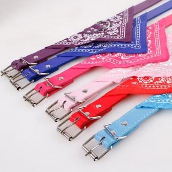 Yika Pet Dog Puppy Cat Neck Scarf Bandana PU Leather CollarNeckerchief Cute Necktie(Size:XXL) - intl - 3