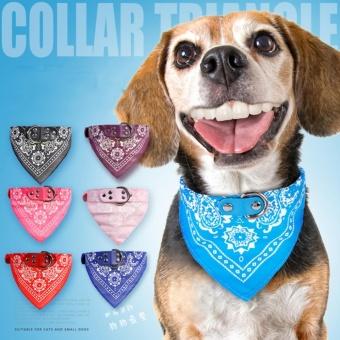 Yika Pet Dog Puppy Cat Neck Scarf Bandana PU Leather CollarNeckerchief Cute Necktie(Size:XXL) - intl - 2