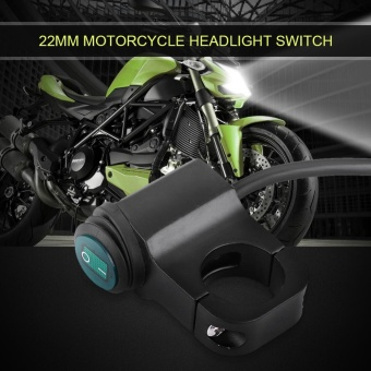YOSOO 12V Universal 22mm Handlebar Motorcycle Headlight Fog lightSwitch Waterproof - intl