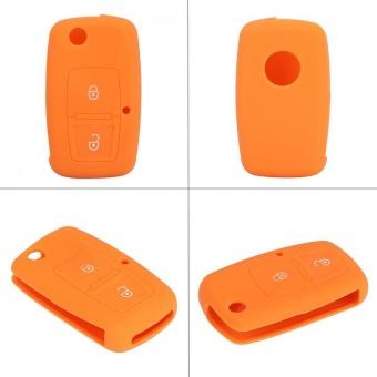 YOSOO Silicone Car Remote Key Case 2 Buttons for Volkswagen VW BoraTouran Cady Orange - intl - 3