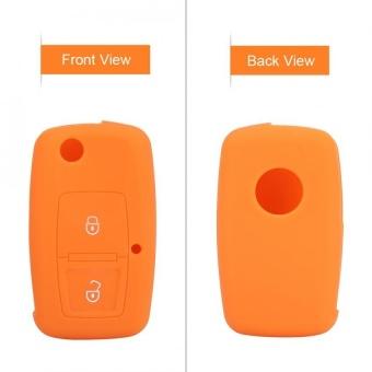 YOSOO Silicone Car Remote Key Case 2 Buttons for Volkswagen VW BoraTouran Cady Orange - intl - 2