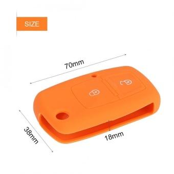 YOSOO Silicone Car Remote Key Case 2 Buttons for Volkswagen VW BoraTouran Cady Orange - intl - 4