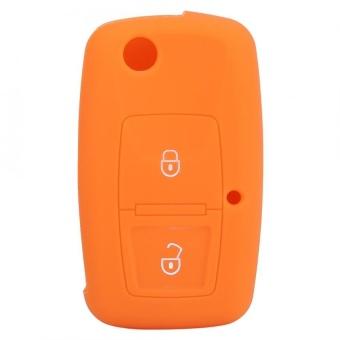 YOSOO Silicone Car Remote Key Case 2 Buttons for Volkswagen VW BoraTouran Cady Orange - intl - 5