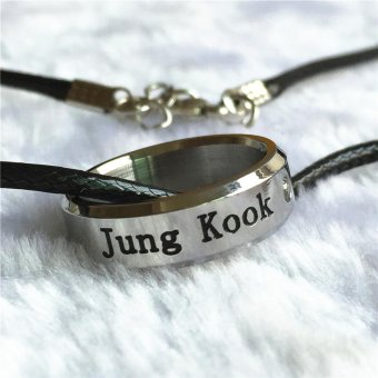 Youpop K-POP BTS Bangtan Boys Wings Album JUNGKOOK Rope RingAccessories KPOP Jewelry Rings With Lanyard - intl Price Philippines
