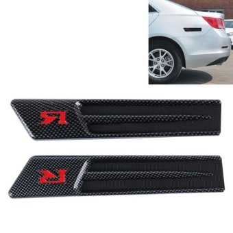 Yuesheng 2 PCS Car Side Air Intake Flow Vent Fender DecorativeStickers Cover - intl