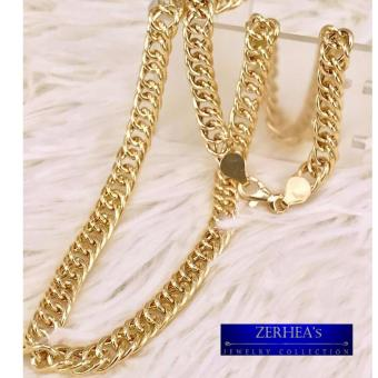 ZERHEA's Rolo Chain Mens Necklace 18k