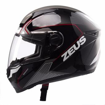 Zeus Full-Face ZS-811 Helmet (Black/AL6White Red)