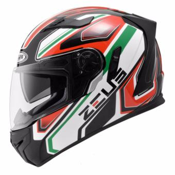 Zeus Full-Face ZS-813 Graphics Helmet (AN5 Black/Green)