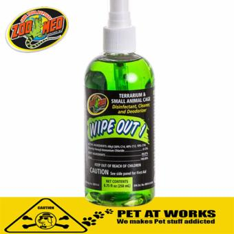 Zoo med Wipe Out Spray (125ml) Terranium, Animal Cage CleanerDisinfectant & Deodorizer