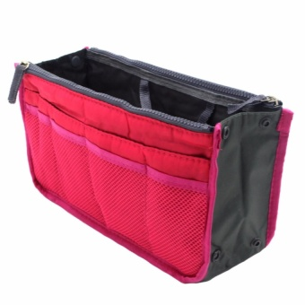 Zover New Women's Fashion Bag in Bags Cosmetic Storage OrganizerMakeup Casual Travel Handbag-Pink