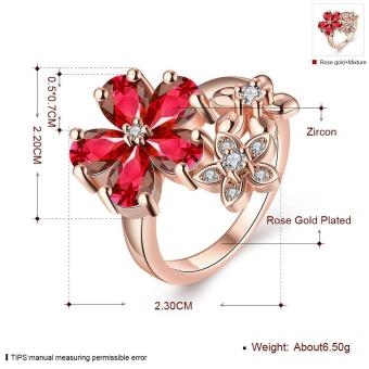 ZUNCLE Nickle Antiallergic New Fashion Jewelry White Plated zircon Ring - picture 2