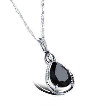ZUNCLE Switzerland AAA zircon Drop diamond pendant necklace bride wedding(black) - picture 2