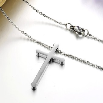 ZUNCLE Women's classic fashion jewelry cross necklace(Silver)