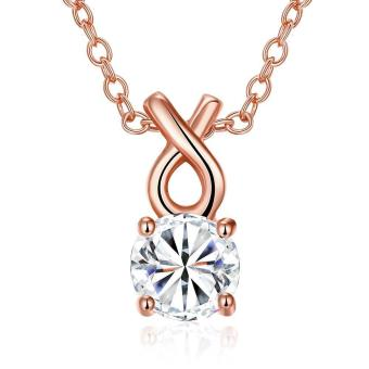 ZUNCLE zircon necklace Fashion Jewelry 18K gold plating necklace(Gold)