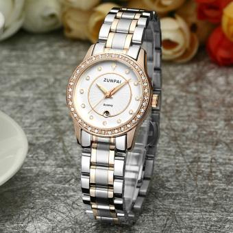 Zunpai crystal waterproof quartz watch Steel women's watch
